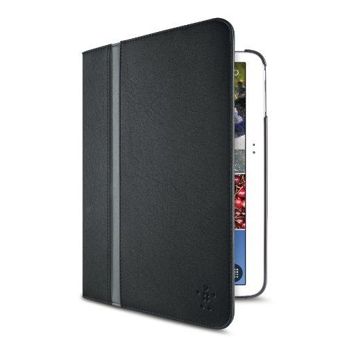 Belkin Cinema Stripe - Funda para Tablet Samsung Galaxy Tab Pro 12.2' (Soporte de sobremesa, Resistente a rayones), Negro