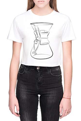 Chemex Dames Crop T-Shirt Wit Women's Crop T-Shirt White