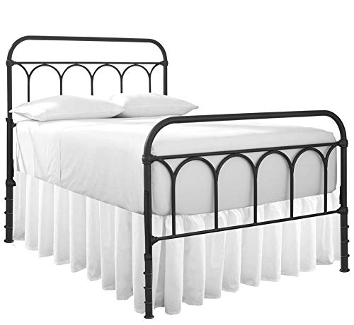 Dust Ruffle with Split Corner Ruffled Gatherd Bed Skirt with Platform Three Sided Coverage - 18' Drop 100% Microfiber Soft,Sheen & Luxurious Look - Bed Skirts (White -Queen)