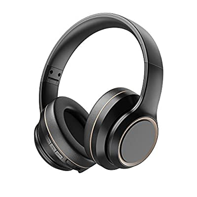 Active Noise Cancelling Headphones, Xunpuls Bluetooth 5.0 Wireless Over Ear Headset with Hi-Fi Deep Bass,Quick Charge,15 Hrs Playtime Bluetooth Headphones with Mic for Travel Work PC Cellphone by Bpuls