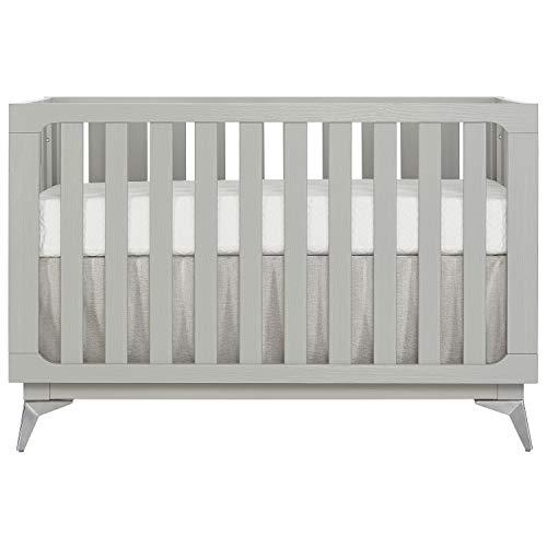 %39 OFF! Sweetpea Baby Ultra Modern II 4 in 1 Convertible Crib in Brush Pebble Grey