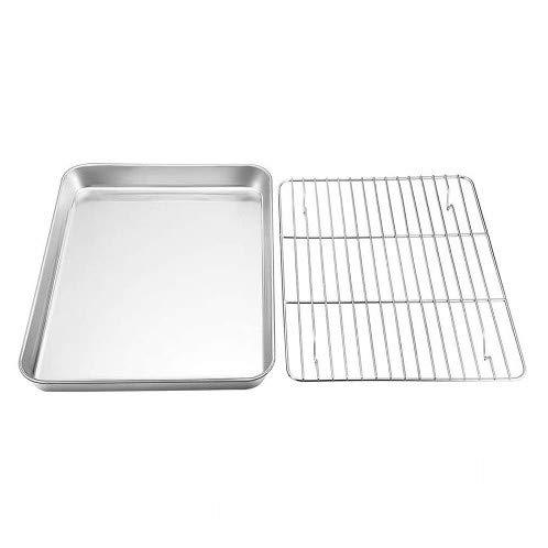 ERYE Nordic Ware Baking Sheet,Baking Sheets for Oven Nonstick,Stainless Steel Baking Sheet Set,Cookie Sheet Cooling Rack Grilling Baking Tray(4)