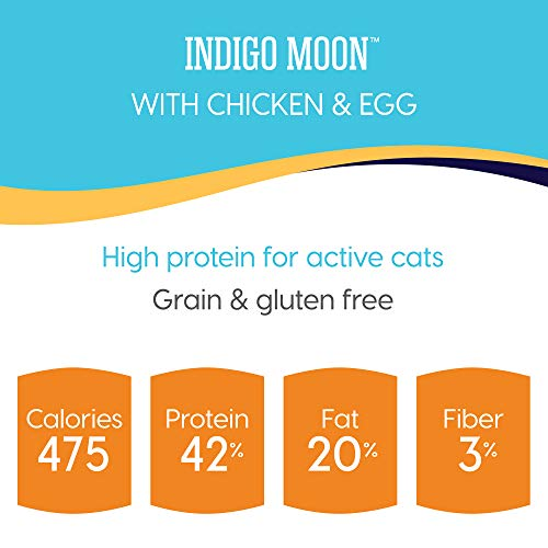 Solid Gold High Protein Grain-Free Dry Cat Food; Indigo Moon With Natural Real Chicken & Eggs 12Lb