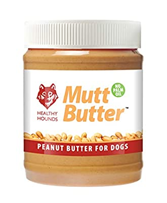 Healthy Hounds Mutt Butter 100% Natural Peanut Butter For Dogs | No Added Salt, Sugar, Sweeteners, Xylitol | PALM OIL FREE | Formulated Specially for Dogs | Natural Dog Treat 340g