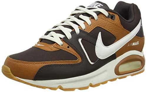 Nike Air MAX Command Leather, Zapatillas para Correr Hombre, Velvet Brown Sail Tawny Gum Light Brown, 39 EU