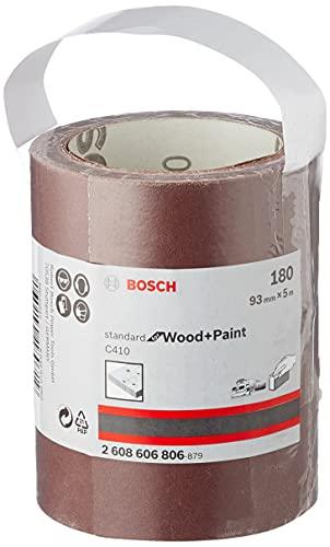 Bosch Professional Schleifrolle für Weichholz (93 mm, 5 m, Körnung 180, C410)