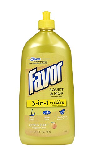 Favor 3-in-1 Floor Cleaner, Restores and Protects Wood, Laminate, and cork floors, Fresh Citrus Scent, 27 fl. oz.