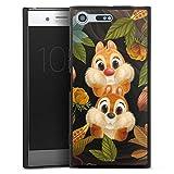 DeinDesign Silikon Hülle kompatibel mit Sony Xperia XZ Premium Case schwarz Handyhülle Disney Chip und Chap Offizielles Lizenzprodukt