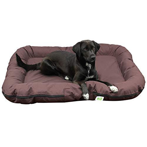 Top-Multi Hundebett - Hundematratze für mittelgroße Hunde Farbe Dunkelbraun 80cm x 105cm