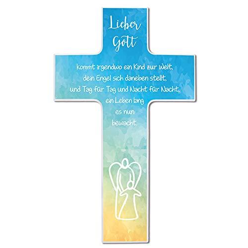 FRITZ COX® - Kinderkreuz - Kommt irgendwo ein Kind zur Welt 20cm - Topseller als Tauf-Geschenk