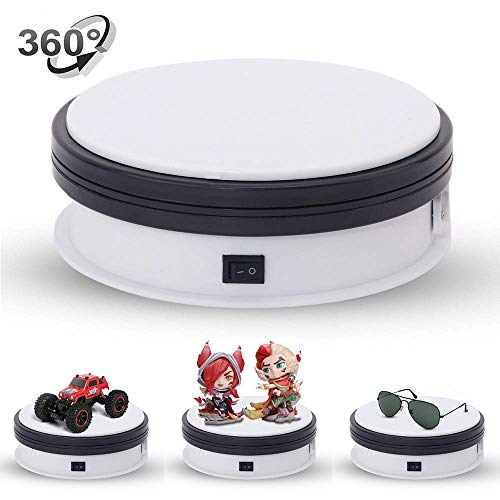 Yuanj Motorized Turntable Display 360 Degree Electric Rotating Display Turntable for Display Jewelry Watch Digital Product Shampoo Glass Bag Models Diecast Jewelry and Collectibles