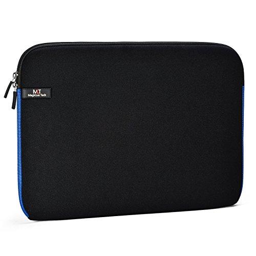 MagicLux Tech 11-11,6 Zoll Laptoptasche Notebooktasche/Case Schutztasche Wasserfest Neoprene Laptop Hülle (Schwarz mit Blau)