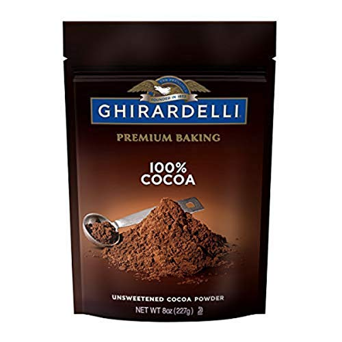 Ghirardelli Premium Baking Cocoa 100% Unsweetened Cocoa Powder, 8 Oz Bag, 100% Cocoa, 6 Count