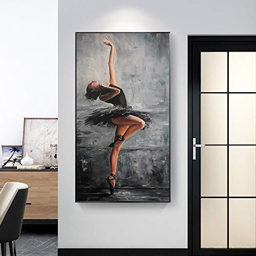 Hermosa Bailarina Mujer Retrato Lienzo Arte Pintura Cartel impresión Sala de Estar decoración para el hogar