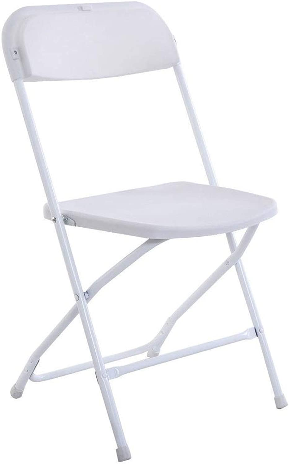 Paddia Plastic Folding Backrest Leisure Home Computer Office Staff Seat Comfortable Easy Carry Storage Camping Beach Foldable Chair Stackable White Chairs for Wedding Party Event
