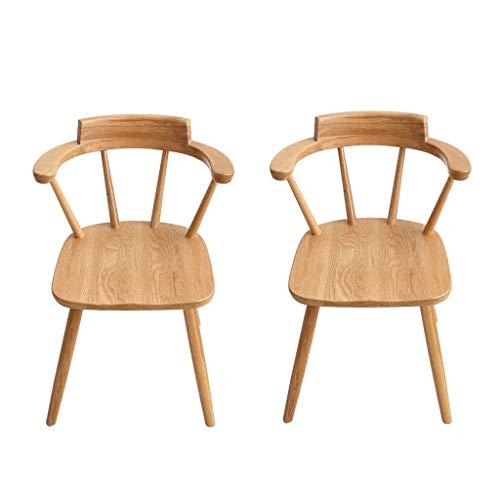 Eetstoel, Allemaal Massief Houten Eetkamerstoel White Oak Home Computer Chair Eenvoudige Fauteuil Leisure Chair (Color : Wood color)