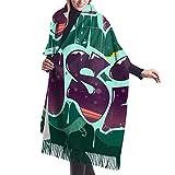 Hip Hop Music Illustration In iti Style_757742746 Bufanda de cachemira, bufandas de moda, envolturas y pashminas