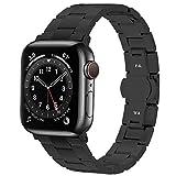 Fullmosa Edelstahlarmband für Apple Watch Armband 44mm 40mm 42mm 38mm, Edelstahl Ersatzband Kein...