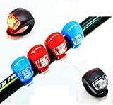 4 Piezas LED Clip-On Silicon Band Luces de Bicicleta Lámpara Luz LED para Bicicleta Super Brillante...