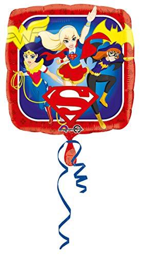 amscan DC Super Hero - Globo cuadrado (1 unidad)