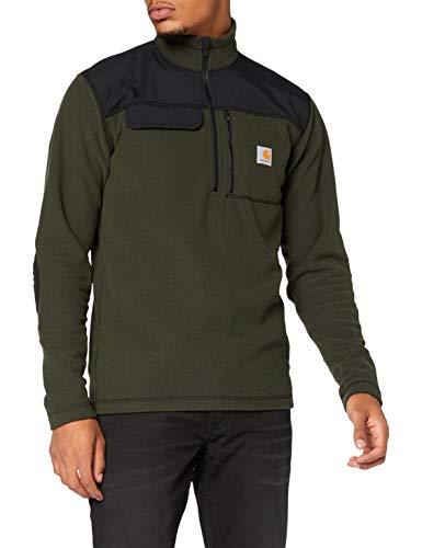 Carhartt Fallon Half-Zip Sweatshirt Maglione Pullover, Olive, L Uomo