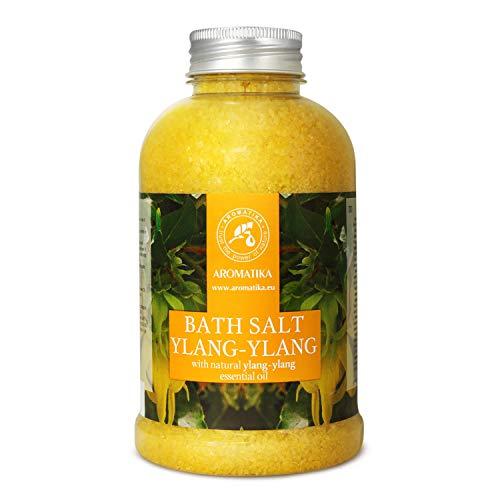 Badesalz Ylang Ylang 600g - 100% Natürlichem Ätherischen Ylangöl - Besten für Guten Schlaf - Stressabbau - Beauty - Baden - Wellness - Schönheit - Entspannung - Aromatherapie - Spa