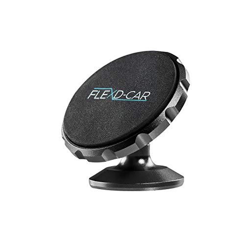 FLEXD-X Auto Handyhalterung Magnet Stark Handyhalter fürs Auto magnetisch Smartphone Halterung im Set KFZ360° (Schwarz)