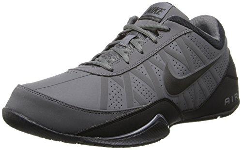 Nike Air Ring Leader Low Mens Basketball Shoes (Dark Grey/Black, 10)