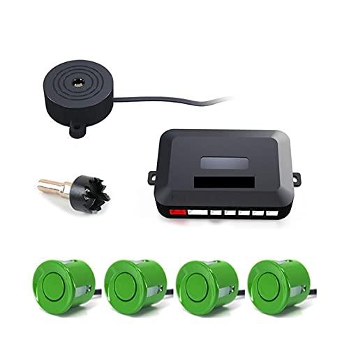 ZIMEI MEIKAI Carpro 12V 22mm Sensor de Aparcamiento Kit Universal 4 Sensores Zumbador Reversa Backup Radar Sound Alerta Indicador Sistema de sonda (Color Name : Green)