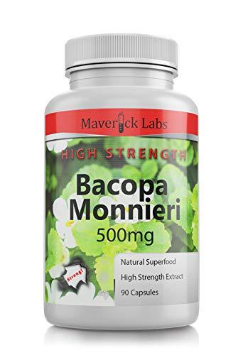 BACOPA Monnieri Capsules (Vegan) Premium Grade - 20% Bacosides 10,000mg Extract! 90 Capsules