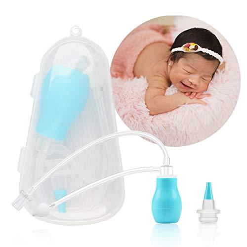Nasensauger für Kleinkinder, inkl. hygienischem Etui und zusätzlichem Schlauch-Aufsatz, Nasensekret entfernen bei Säuglingen, Saugen mit dem Mund und zum Pumpen für Babys Nase, Wiederverwendbar