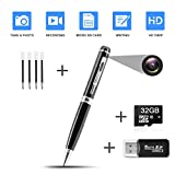 Hidden Pen Camera Spy Pen Camera HD 1080P Clip On Body...
