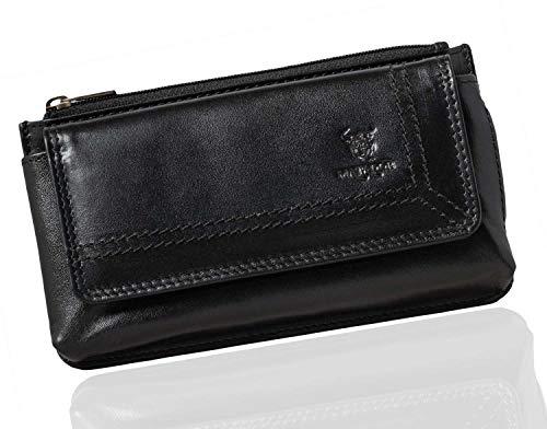 MATADOR Handy-Tasche Gürteltasche Leder Quertasche mit Gürtelschlaufe Universal für Handys bis 6,9 Zoll (Schwarz)