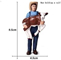 ハッピーランチャーファミリーセット飾りプラスチック農場労働者シミュレーションモデルフィギュア子供幼児と男の子のお風呂のおもちゃ飾り、美しい誕生日プレゼント (Color : 11)