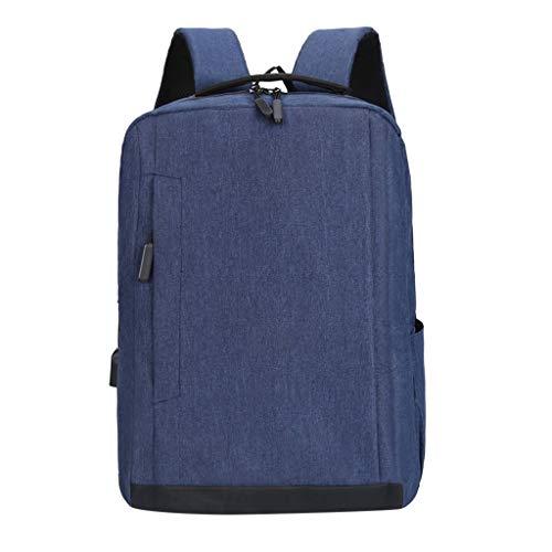 Dasongff Laptoprugzak, schoolrugzak, dagrugzak, waterafstotende laptoptas met USB-aansluiting voor business, school, reizen, vrouwen, mannen en vrouwen F blauw