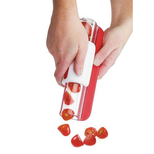 Générique Progressive Fermeture Éclair trancheuse Tomate Raisin Slicers Fruits Outils Fruits Décoration de gâteaux
