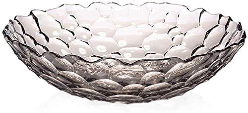 Bandeja de fruta de cristal simple para el hogar, plato de dulces para el hogar, plato de aperitivos, decoración de mesa de café, plato de frutas (color: A, tamaño: pequeño)