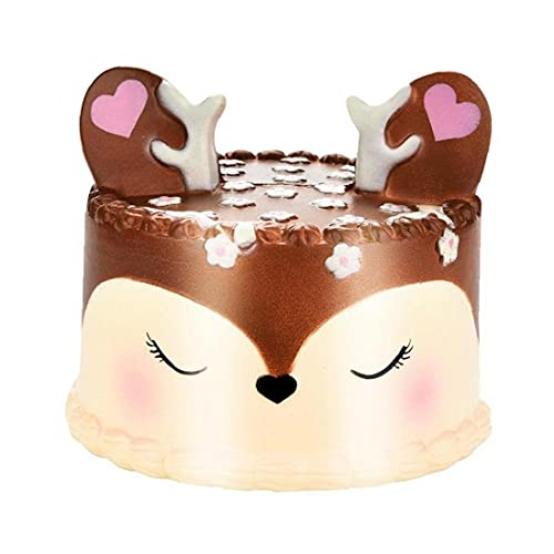 2018 Newest Slow Rising Squishies Jumbo HEHEM 11cm Kawaii Cute Horse Cake Scented Squishy Charm Slow Rising Simulation Kid Toy Key Cell Phone (Brown)