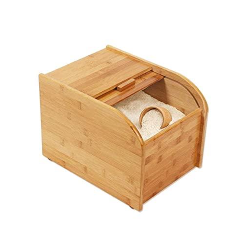 SKYEI Caja de almacenamiento de bambú del arroz, caja de almacenamiento de la protección del medio ambiente de la