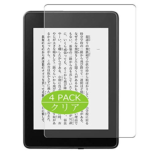 "VacFun 4 Piezas HD Claro Protector de Pantalla Compatible con Amazon Kindle Paperwhite 10 6"" 2018, Screen Protector Sin Burbujas Película Protectora (Not Cristal Templado) New Version"