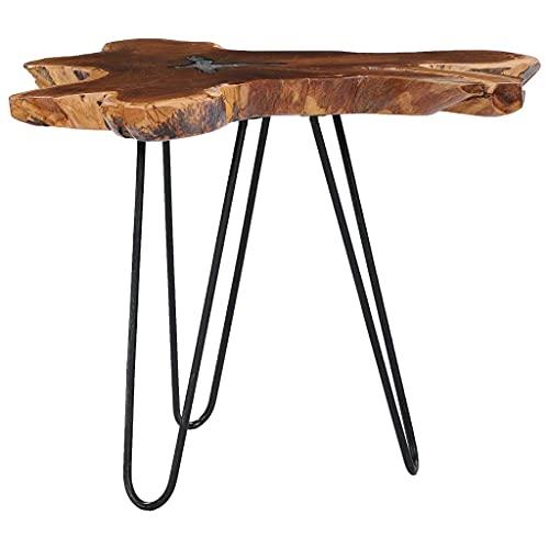 Tavolino da caffè, tavolino laterale Tavolino da cocktail Tavolino da centro Divano Tavolino Tavolino da tè Tavolino 70x45 cm Legno massello di teak e poliresina