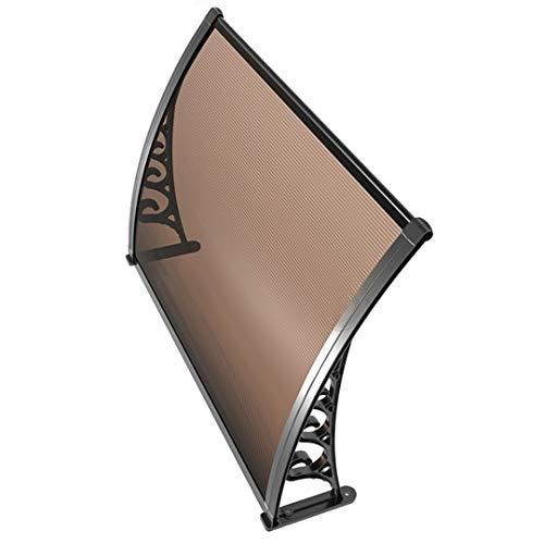 MYHFEQ Pantalón de la Puerta Delantero, Puerta de la Puerta de la Ventana de policarbonato, Soporte Negro de la Placa marrona y de aleación de Aluminio, con Accesorios completos (Size : 31.5'(80cm))
