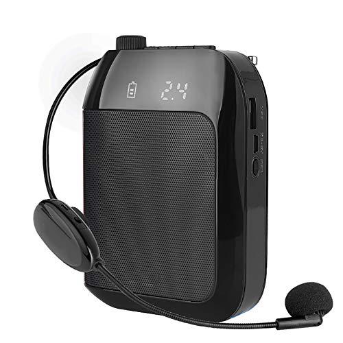 WFLJ Portatil Personal Amplificador de Voz con Inalámbrico Micrófono Auricular, Sistema de PA, Amplificador de Micrófono Megáfono para Múltiples Ubicaciones como Aulas, Reuniones y Exteriores