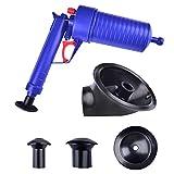 YUIO Toilet Plunger Set, High Pressure Air Drain Pump Plunger, Air Power Drain Blaster Gun, Sink Opener Cleaner Pump Dredge Tool for Toilet Bathroom Kitchen