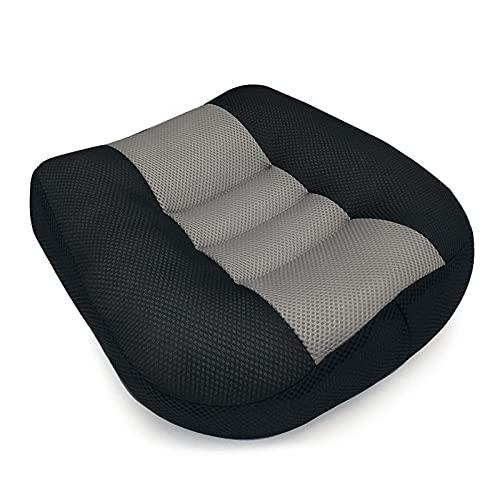 AMYZ Cuscino per Sedile rialzato per Auto per Adulti Altezza di Sollevamento 12 cm Materassino in Rete Traspirante Portatile per Auto Ufficio a casa (15x15x4.7 in)