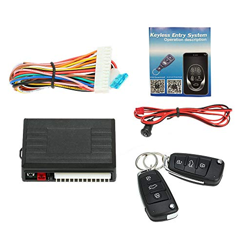 KKmoon Universal Car Door Lock Trunk Release Keyless Entry System Central Locking Kit with Remote Control
