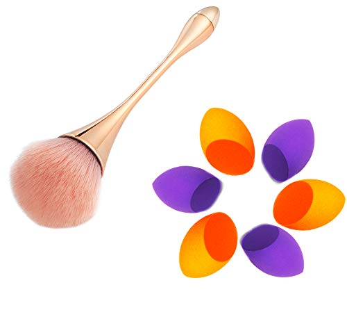 Beauty Makeup Sponge Blenders and Large Beautiful Makeup Brush Set, Soft Latex-Free Beauty Sponges for Liquid Cream & Powder,Premium Cosmetic Brush Helps Build Smooth Even Coverage