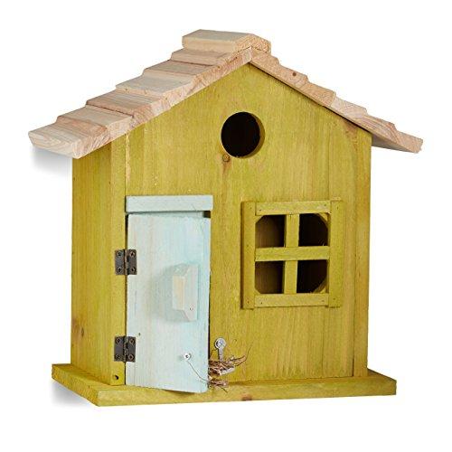 Relaxdays caseta para pájaros de madera.