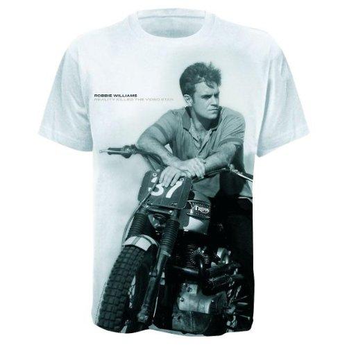 Bravado Williams,Robbie - Big Print Bike 0923579 Damen Shirts/ T-Shirts, Gr. 34/36 (S), WeiÃY (weiÃY)