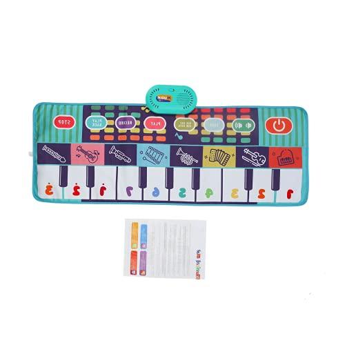 Tapetes musicais infantis, brinquedos educativos para bebês em tecido macio dobrável para meninas e meninos para presente infantil(CP4971 (saco de 100 * 36 CM))